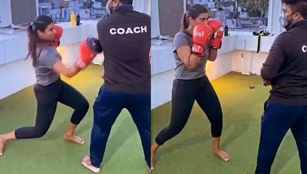 தீவிர பாக்ஸிங் பயிற்சியில் நடிகை ஐஸ்வர்யா ராஜேஷ்!