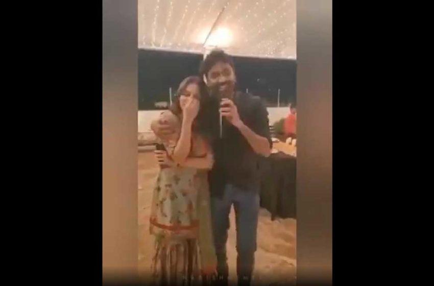 மனைவியை 'இம்ப்ரஸ்' செய்த தனுஷ்! – வைரலாகும் வீடியோ!