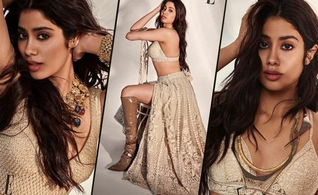 """""""High Temperatures Due To Hot Waves"""" – Janhvi Kapoor Latest Photos"""