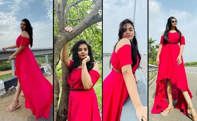 Sreemukhi In Pink Spells Beauty…