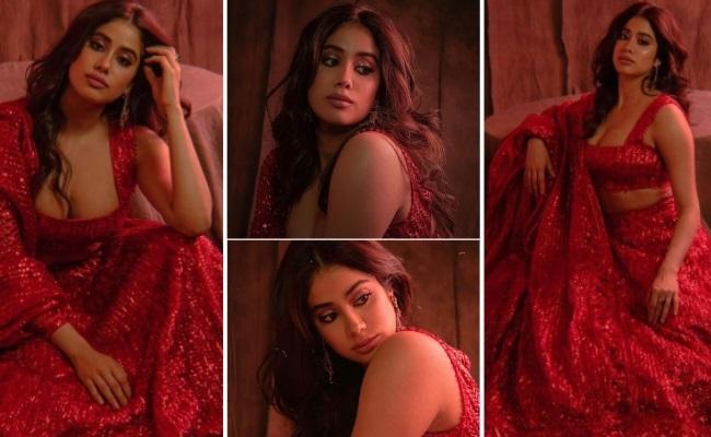 Jhanvi Kapoor Looks GorgeousIn Red 🥰