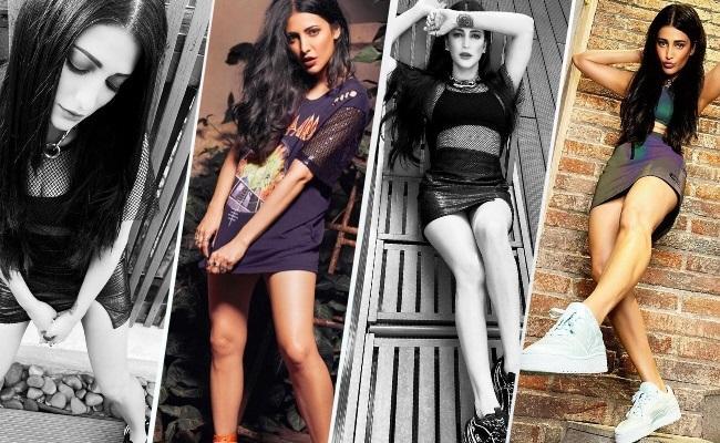 என்னமா டிரஸ் இது? நடிகை ஸ்ருதிஹாசனின் லேட்டஸ்ட் போட்டோஸ்!