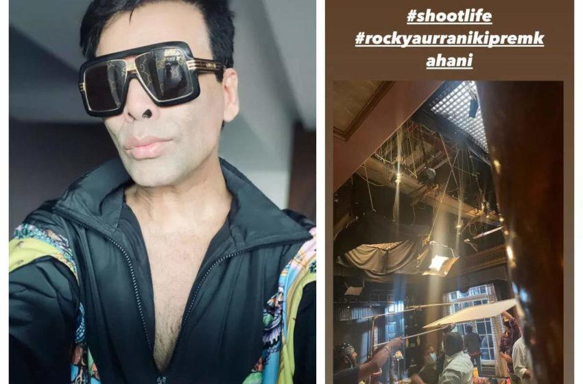 # Rocky Aur Rani Ki Prem Kahani: Bollywood filmmaker Karan Johar shared a BTS photo from the movie's set..