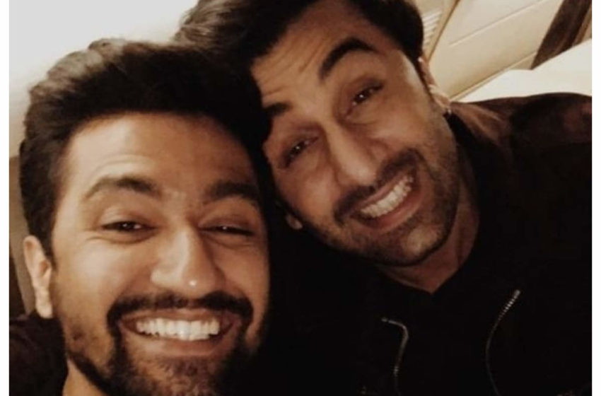 #Ranbir Kapoor-Vicky Kaushal: Both spotted at a studio shooting for a special dance Sequence!!