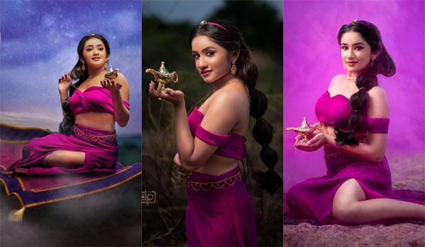 அலாவுதீன் விளக்குடன் '#raveenadaha' … வைரலாகும் போட்டோஸ் !