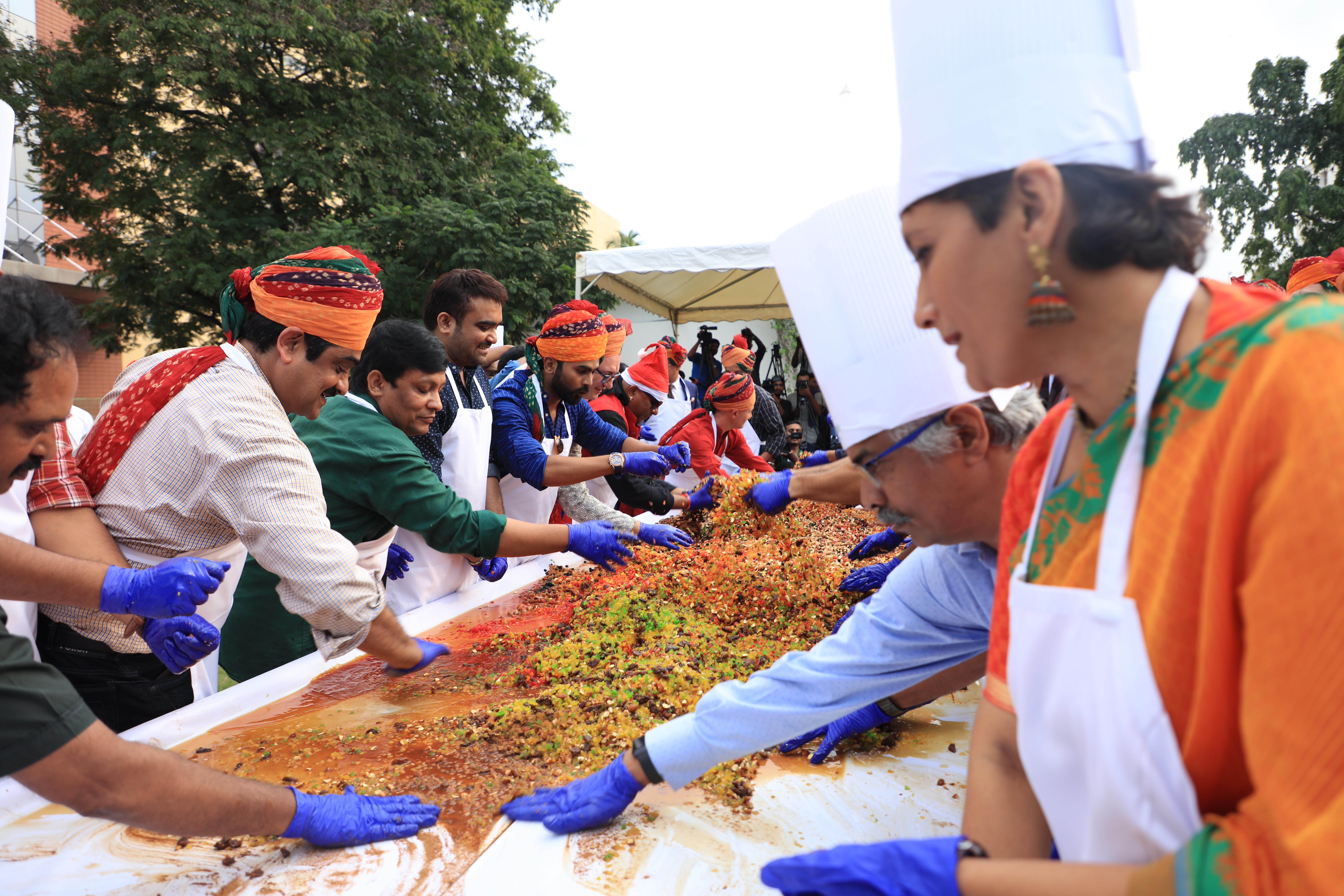 Christmas Cake mixing Ceremony - Green Park