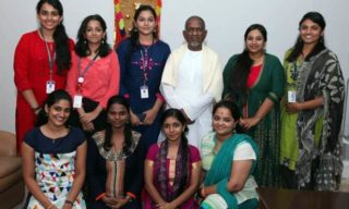 Ilayaraja with students